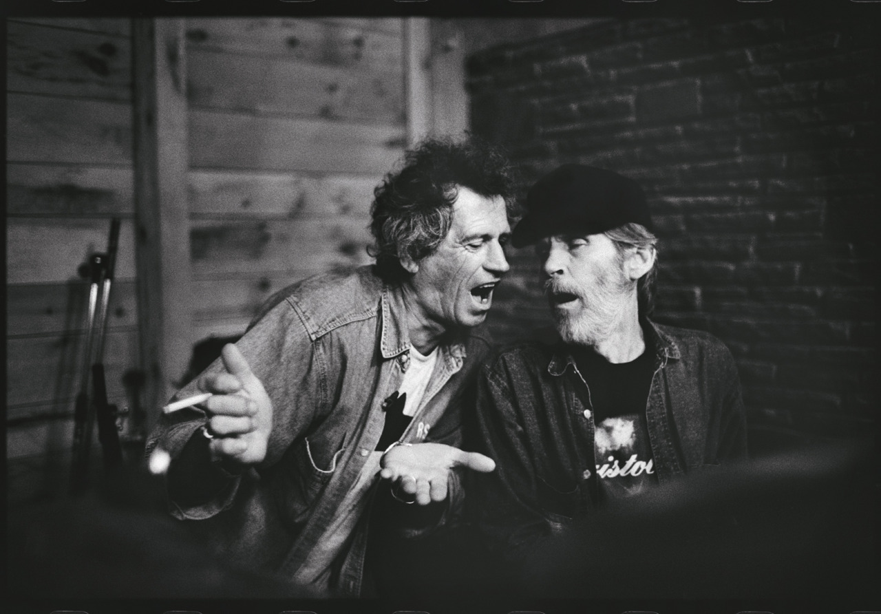 Keith Richards and Levon Helm - musicians - Woodstock, NY  © Jim Herrington