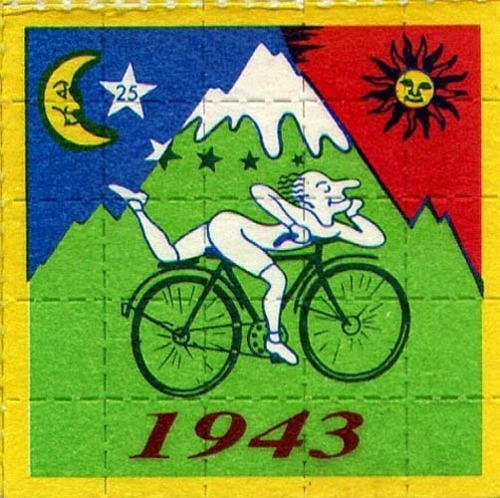 "wishfulthinkertinytina:  happy cycling!~  ""69 years ago, Albert experienced for the first time the magic of LSD"" Thanks Albert, bikes are by far, one of my favorite drugs."