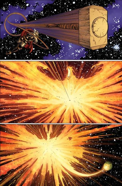 Let's all watch Thor hit the Phoenix Force with a hammer… (Unlettered Preview Of AVENGERS VS. X-MEN #4)