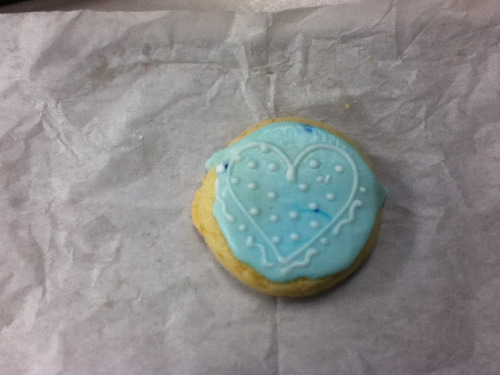 I got a cookie with a heart on it. Valentine's day 4eva!