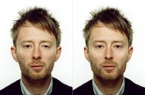 See more variations: (via What would a perfectly symmetrical Thom Yorke look like?)