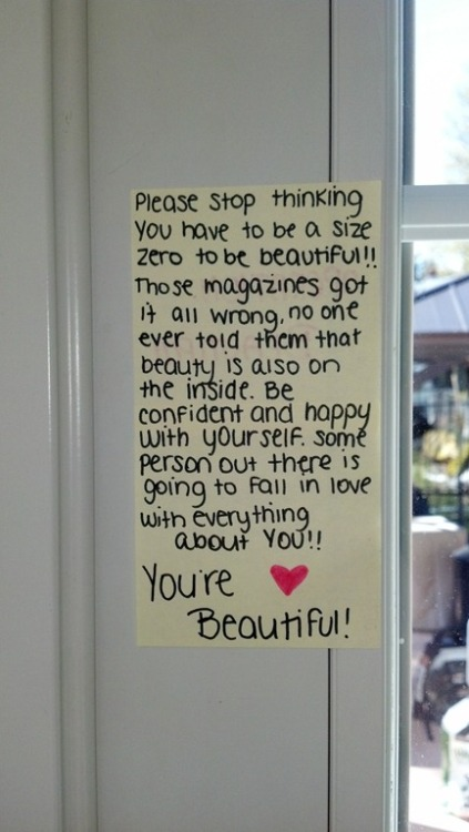 Briana posted this lovely note! -Today's Notes  The new Operation Beautiful book is available for pre-order. Operation Beautiful: For Best Friends is targeted to 8 – 14 year old girls and addresses topics like friendships, bullying, love, life, puberty, parents, finding a passion, and healthy living. If you're older, check out the original Operation Beautiful book!
