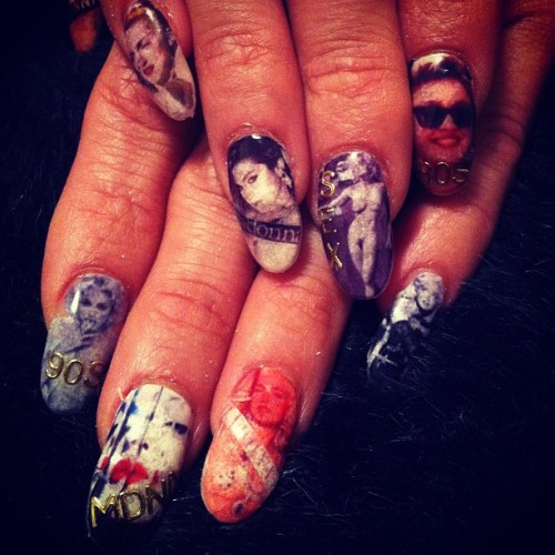 Madonna #nailart  (Taken with instagram)