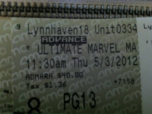 Know what this issss? It's the ticket I bought today for the Marvel movie marathon at Amc in two weeks. I am soo excited! Sweet Jesus!