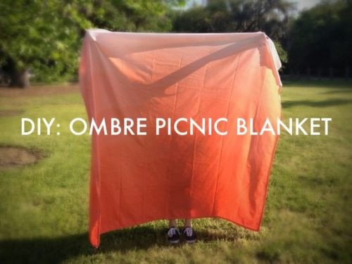 Pretty weather in Charleston means the perfect opportunity for a picnic. This DIY project (which I did as part of the Charleston City Paper's DIY series) transforms a bed sheet into a lightweight picnic blanket for less than $10. By varying the length of the dye time, a single dye color produces a gradient from light to dark, which is called ombre.