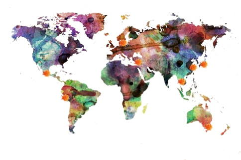 Dip Dye Map of the World…