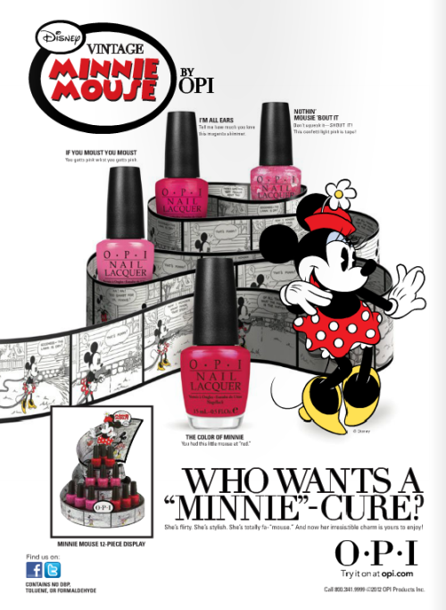 OMG! Minnie Mouse collection by OPI coming out soon!!!