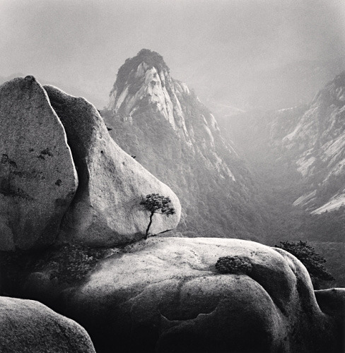 Huangshan Mountains, Study 27, Anhui, China, 2009, by Michael Kenna.