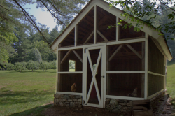 Historic Farmhouse 04/18/12 Price: $995,000 Location: Cashiers, NC Type of Home: Detached Home This property in western North Carolina includes a farmhouse that dates to the 1890s, a creek and a chicken coop. — Stefanos Chen The property also includes a root cellar from the 1890s, which was used to store vegetables and other perishables, and this post-and-beam chicken coop with about a dozen chickens. Photo: Karen Kaleta