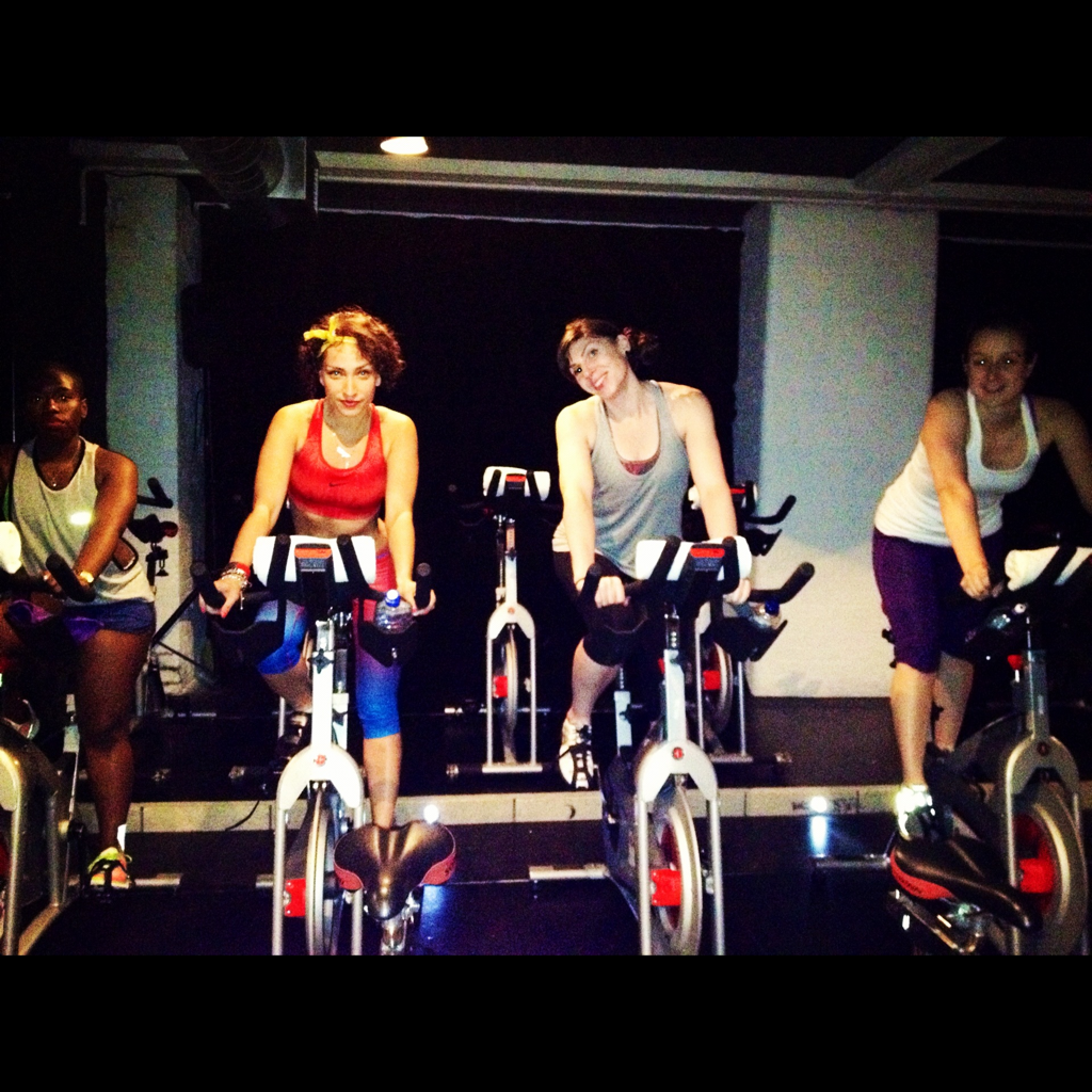 Straight endorphin party tonight at Boom Cycle in Shoreditch. Our instructor Hilary brought the hip-hop. We brought the Run Dem Crew and BridgeRunner swag.   Regulators. Mount up.