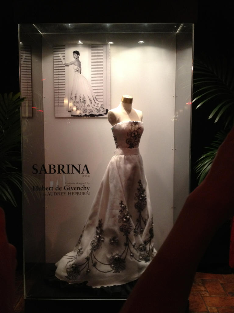 Audrey Hepburn's dress from Sabrina. On display at the 2012 TCM Film Festival. Also, I'd like to emphasize that unless you can fit a dog collar around your waist, like Audrey, you will NEVER fit into this dress.