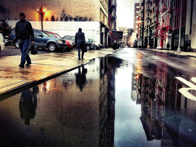 urbanehood:  (via Lispenard Street in Reflection NYC | Flickr - Photo Sharing!)