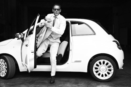 Lapo rollin' in the Fiat 500
