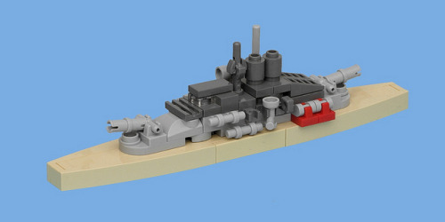 invisibleflies:  Light Cruiser by pasukaru76 on Flickr. Microscale stuff like this is really cool. I wish I were that good.