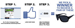 Follow this 3 step process and you could be the lucky winner of a free pair of DSO Sunglasses! We need to hit 500 Likes on the page to pick a winner, so start sharing and show us how much you want some glasses!!!!