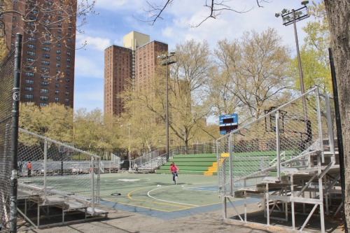 aroundnewyorkcity:  The court at The Rucker. If basketball is your religion, then this is your mecca. It's the cathedral of streetball. NBA players come here during the summer to prove their street cred. Kevin Durant was here last summer, Kobe's been here, all the greats. For a movie analogy, think of it as a mainstream movie star doing indie movies. If you're in New York during the summer, get here for the summer league games. This place is pure basketball nirvana. <> Guess I know where I'm playing ball lol <3