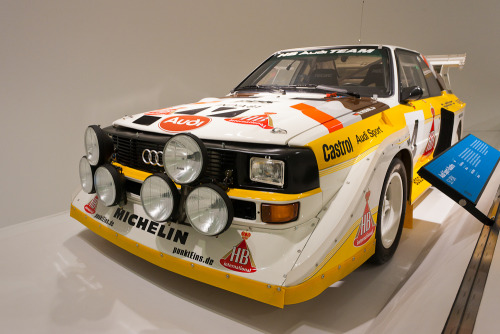 Audi Sport Quattro S1 PDK. This is Quattro S1 number RE15, one of two cars made with the PDK gearbox. The other, RE02, was raced by Walter Röhrl in the 1985 Lombard RAC rally but retired early after going off the road and rolling down a hillside in the dark of a night stage. The demise of Group B in 1986 meant RE15 would never race and was acquired by Röhrl and later sold. Porsche had developed the Porsche Doppelkupplung, or PDK, dual-clutch gearbox for the 962 race car and through Dr Ferdinand Piech the technology found its way into the Audi Sport program. With upwards of 530bhp even Walter Röhrl admitted to being scared of the mighty S1 at times. Porsche Museum, Stuttgart, Germany.
