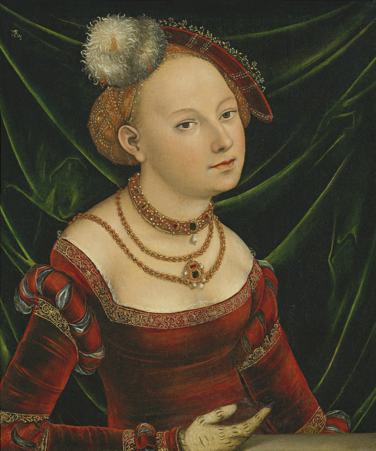 cavetocanvas:  Lucas Cranach the Younger, Portrait of a Woman, date unknown