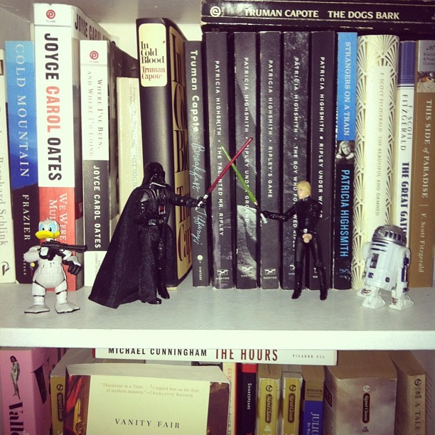 Shit be going down in the Capote and Highsmith section! (Taken with instagram)