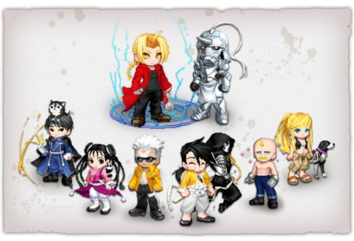 FUNimation has teamed up with Gaia to bring you items from the legendary Fullmetal Alchemist: Brotherhood series. Grab the Fullmetal Alchemist: Brotherhood Chance Item and you could get one of the following iconic exclusives! For those unfamiliar with Gaia, a Chance Item is like a gatchapon.  Purchase the Chance Item (CI), open it and see what you get!  Will you get Ed, Al, Scar, Armstrong?  Who knows?  It's a surprise! Joining Gaia is free and it only takes a minute.  Once you're signed up you customize an avatar to interact with millions of other members who share your interests.  You can also decorate a virtual home, play games like zOMG! with your friends, join forums, create a cute aquarium, and much more. Fullmetal fans, take part in the Fullmetal Alchemist Forum and discuss the series and the gear with your fellow alchemy fans.  Get started today by clicking this link:  http://bit.ly/GaiaOnlineFMAB.  The Fullmetal Alchemist: Brotherhood promotion will last for 30 days, so if you want a tiny Ed (ha ha), Al, Roy Mustang, etc, you better hop on it! Don't forget that Fullmetal Alchemist: The Sacred Star of Milos releases next week along with Fullmetal Alchemist: Brotherhood Collection Oneon Blu-ray and DVD. You can pre-order both on Amazon.com.