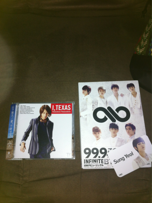 I got these recently :) Oh and Yamapi's album came with a poster :)