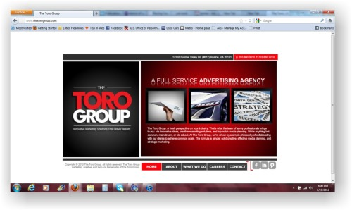 New design for The Toro Group website