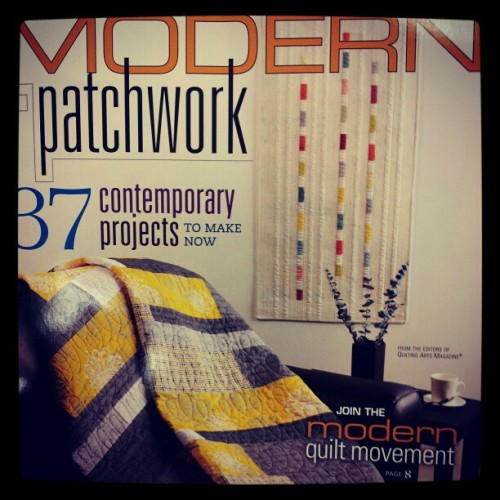 Received the Modern Patchwork magazine today that I won in a giveaway! (Taken with instagram)