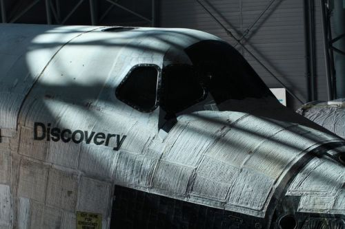 thisistheverge:  Space Shuttle Discovery retires to the Smithsonian National Air and Space Museum The shuttle is actually a little bizarre to see in-person —this thing was in outer space — and up close it looks like huge portions of the craft are covered in a gauze-like substance.