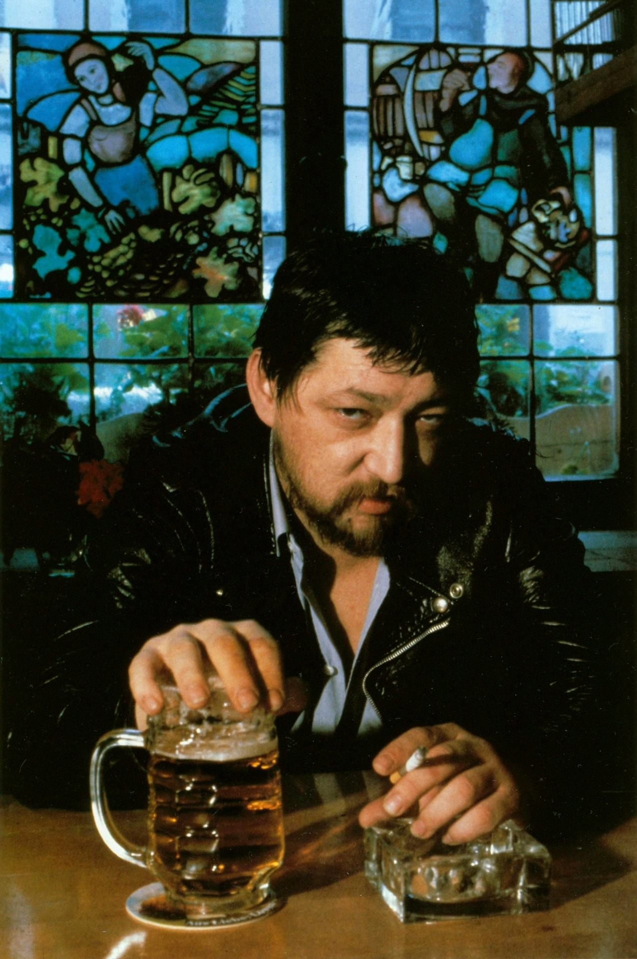 Helmut Newton took this photograph of Rainer Werner Fassbinder in Munich, 1980.