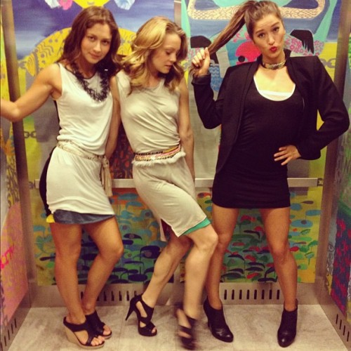 @Loomstate_Org Girls getting down in the elevator @bfa_nyc #Earthday (Taken with instagram)