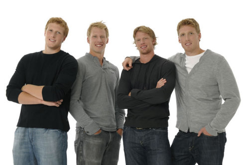 Eric, Marc, Jordan and Jared Staal, Carolina Hurricanes, New York Rangers and Pittsburgh Penguins.