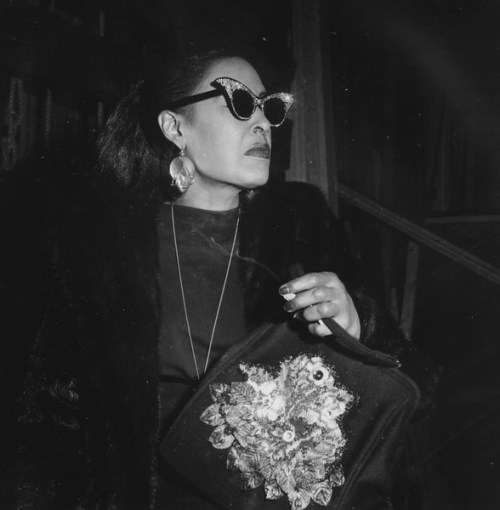 fuckyeahbillieholiday:  Billie Holiday in Olympia, November 1958 (3)