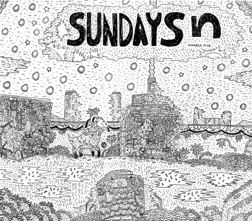 onlyskincomics:  yaaay danemartin:  Preview of the title page for Sundays 5. (1/2)