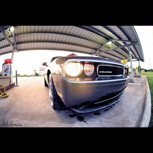 #dodge #challenger #nikon #fisheye #photooftheday #photography #instagramhub #life #muscle #carwash #cars  (Taken with instagram)
