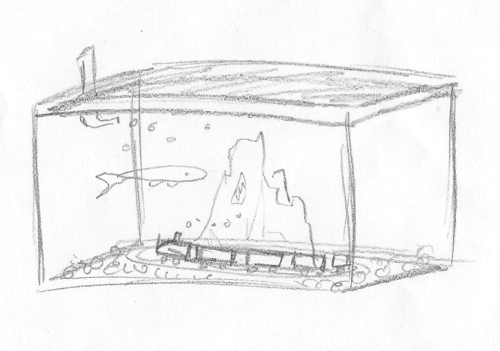 Next time I draw an aquarium or a train, I will use reference images.