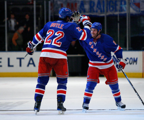 Brandon Prust and Brian Boyle, New York Rangers. (via Dubinskyisourking)