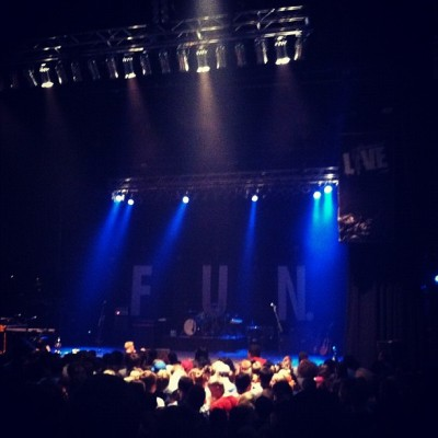 Before Fun. came out on stage! (Taken with instagram)
