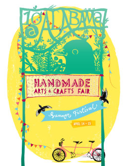 poster design for the 6th 10A Alabama Handmade Arts & Crafts Fair **10A logo design by Robert Alejandro**