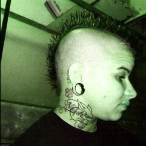 #throwbackthursday #mohawk #tattoos #punkrock (Taken with instagram)
