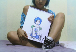 someone needs an EGOcheck. Look! there`s me holding a drawing of me, holding a drawing of me holding ME again!