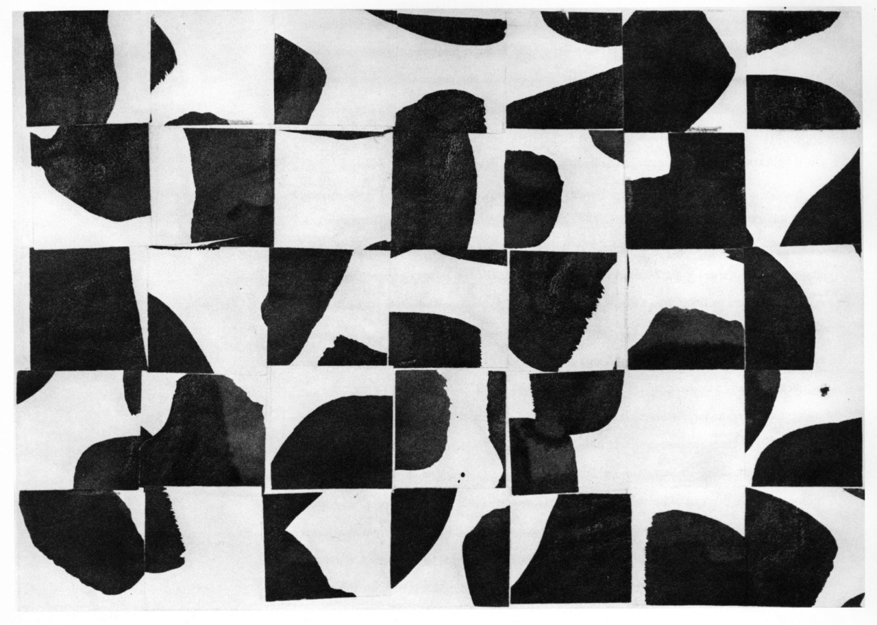 Ellsworth Kelly - Brushstrokes Cut Into Thirty-Five Squares and Arranged by Chance, 1953