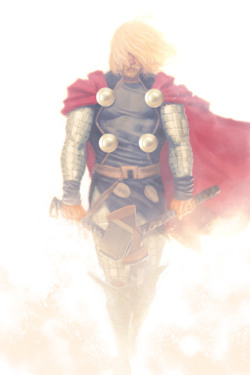 awyeahcomics:  Thor by Jarreau Wimberly  o_o