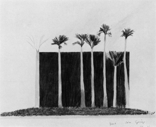 archiveofaffinities:  David Hockney, Bank, Palm Springs, 1968