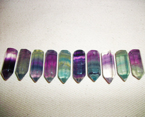 various shades of fluorite