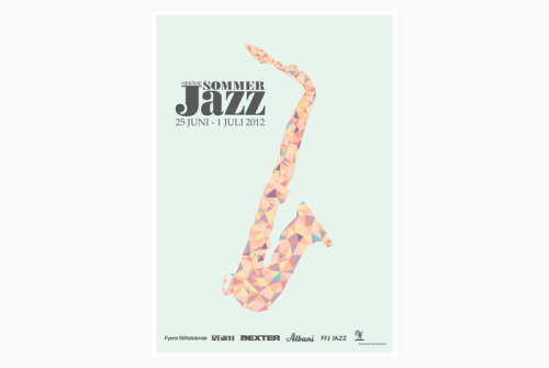 (via Forma Studio » Odense Sommer Jazz 2012) My poster proposal was selected out of 100+ designs! This summer it will be very visible on the streets of Odense :-D