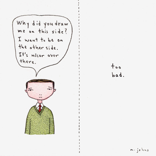 mindbarbs:  marc johns.  siklusseni: This side or the other.