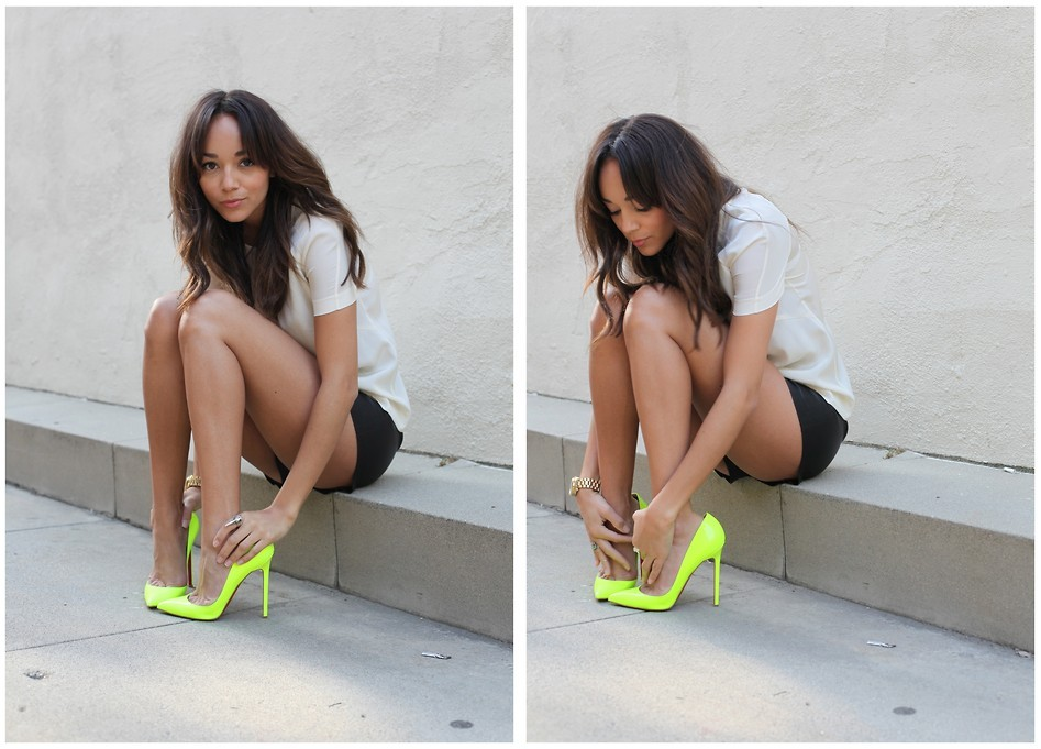 lookbookdotnu:  Neon (by Ashley M)