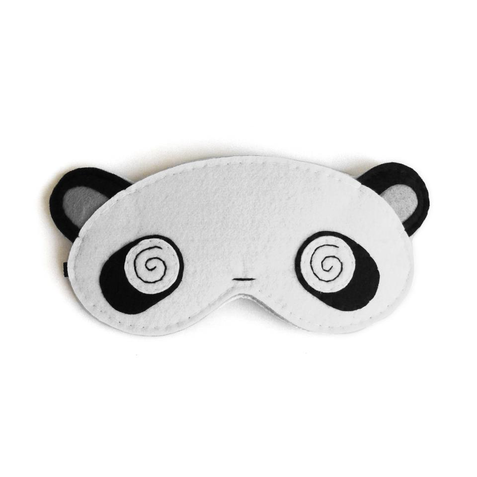 Panda Eye Mask Currently sold out at www.punchdrunkpanda.com!Reblog this post if you want us to produce more for you. :D Hitting the snooze button,The PdP Team