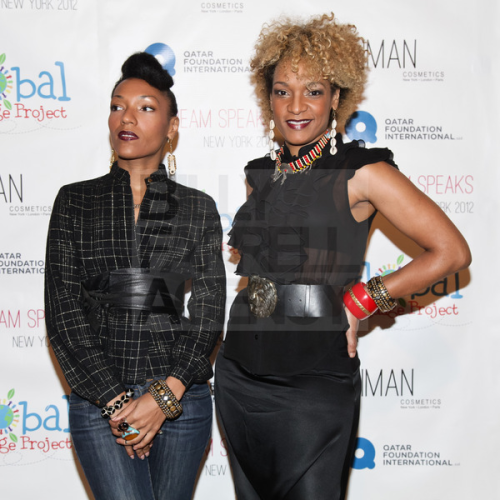 "Les Nubians looking stunning on the red carpet at Global Language Project's ""My Dream Speaks"" benefit at Helen Mills in New York on April 18th. See more pics on our Facebook Page. (Photo by: Matteo Prandoni for BFA/Billy Farrell Agency - bfanyc.com.)"