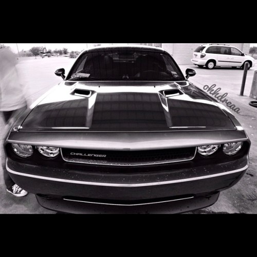 #instagramhub #dodge #challenger #muscle #cars #clean #photooftheday #photography #black #white #monochrome #nikon  (Taken with instagram)